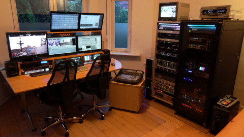 High-End AVID Schnittplatz bei av-biz in Hamburg